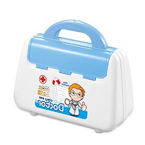 ZHANG Medizinhaus-Mädchenstethoskopbaby-Simulation des Doktorspielzeugs der Kinder gesunder Einspritzungsnadel-Krankenschwester (Farbe : Blau)