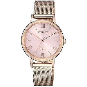 Citizen Lady – Reloj para Mujer Eco Drive Chapado Oro Rosa EM0576-80X