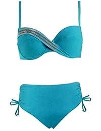 LIBERTI - Maillot de Bain Deux Pièces - Femme - Turquoise - 90D