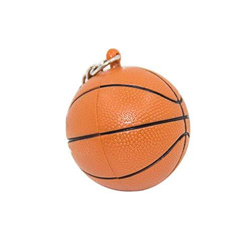 Carry stone Niedliche Schlüsselbund Basketball Anhänger Schlüsselbund mit Led Licht Sound Schlüsselanhänger Halter Hängen Dekor Schlüsselanhänger Praktisch und nützlich