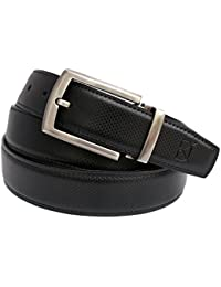 Dein Kleider Executive Faux Leather Belt for Men (Black/Brown Reversible)