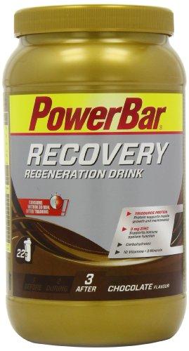 PowerBar Mehrkomponenten-Protein aus Casein, Whey und Soja - Protein-Pulver mit Kohlenhydrate, Vitamine und Mineralstoffe - 1,2kg Chocolate -