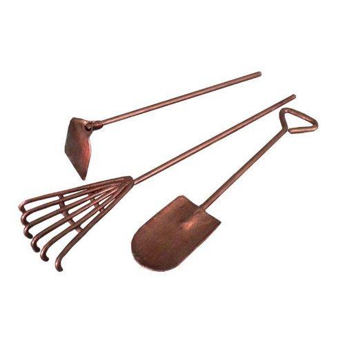 Fiddlehead Fairy Village -Mini Garden Tools 3 Pc Set, (Rake, Hoe & Shovel) - Kids Garden Hoe