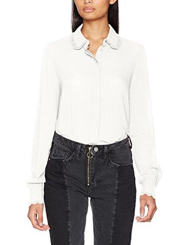 Vero Moda Vmlucy L/S Shirt, Camicia Donna Bianco (Eggnog Eggnog)