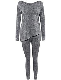 Phenovo Diseño Bowknot Asimétricas Dos Pantalones Del Pedazo Fijados Para Mujer Chicas