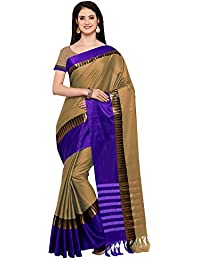 AppleCreation Women's Cotton Silk Saree With Blouse Piece (sarees New Collection KVS131L_Beige)