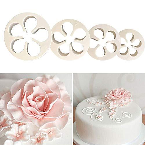 Lomire Rose Blume Kuchen dekorieren Formen Kunststoff Rose Form Ausstechformen Schimmel Sugarcraft Kuchen Flower Decor Sugarcraft Kuchen dekorieren zum Backen