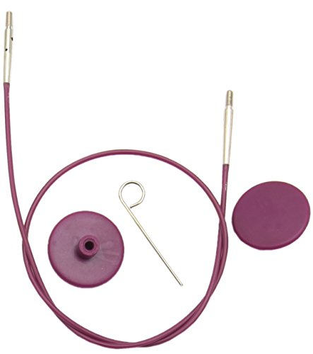 KNITPRO Purple Single Interchangeable Cable - 76cm to make 100cm IC Needle