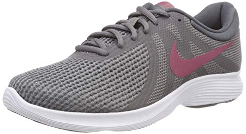 Nike revolution 4 eu, scarpe da fitness unisex-adulto, multicolore (gunsmoke/vintage wine/dark grey/white 008), 44