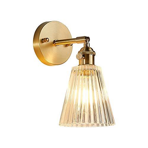 Dalun Industrielle Vintage Crystal Shade E14 Schraube Lampenfassung Imitation Kupfer Loft Bar Küche Leuchten Korridor Wandleuchte Leuchte