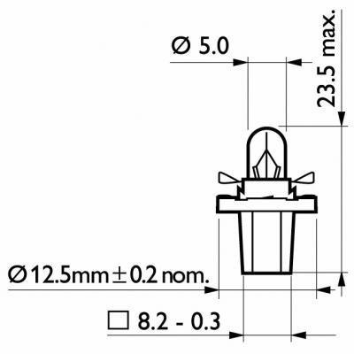 Preisvergleich Produktbild Philips 12600 CP Glühlampe Armaturenbrett