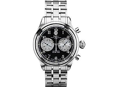 Ball Trainmaster Cannonball Watch, Ball RR1401, Black, Steel bracelet