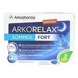 ARKORELAX® SOMMEIL FORT 1,9mg melatonine 5 extraits de plantes 15comprimé (15 jours)