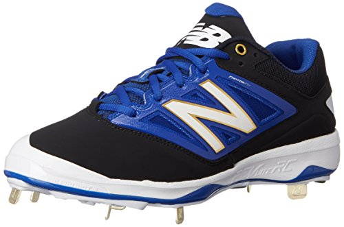 New Balance Herren L4040V3 Cleat Baseball Shoe, Black/Blue, 46.5 2E EU