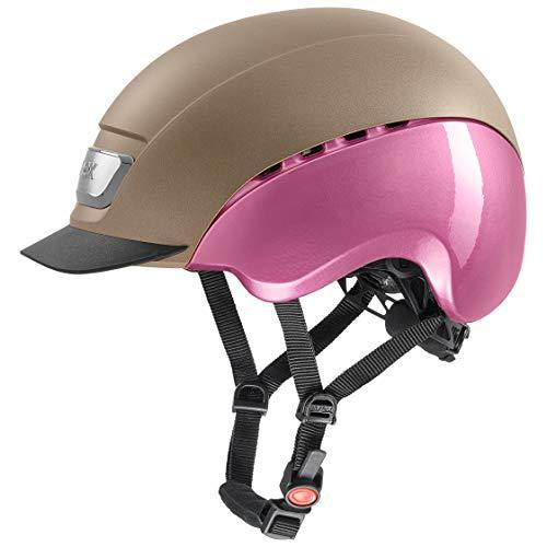 uvex Unisex- Erwachsene, elexxion pro ltd Reithelm, champagner mat-pink shiny, 57-59  cm