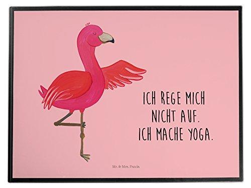 Mr. & Mrs. Panda Schreibtischunterlage Flamingo Yoga - 100% handmade in Norddeutschland - Vogel,...