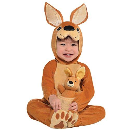 Baby Känguru Joey Kostüm JUMPIN Overall Plüschspielzeug Dschungel Babys kleinkinder Tier Kostüm Outfit Zoo Party Haustiere Wüste - Jumpin' Joey, 12-24 Monate
