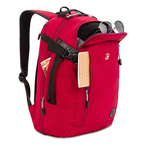 Swiss Gear Hybrid 21 Ltrs Red Laptop Backpack (3555431416) Image 4