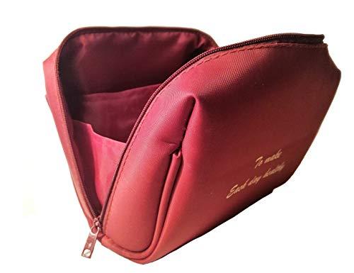 Pochette donna trucchi, rosso borsa dei trucchi. Qualità porta trucchi da viaggio, nylon porta trucchi da borsa. Pochette porta trucchi, dimensioni 17 cm x 13 cm x 9 cm.
