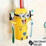 2Augen-Minion-Zahnpastaspender und Zahnbürstenhalter, Set, automatischer Zahnpastaspender [UK-Verkäufer]