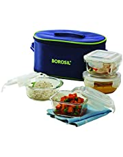 Borosil Glass Lunch Box Set of 4