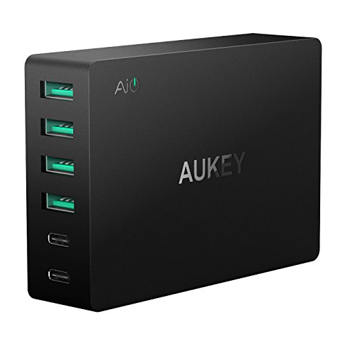 AUKEY USB C Wall Charger 60W USB Charger for LG, HTC, Nexus and more other Smartphones and Tablets. (3ft USB-C...