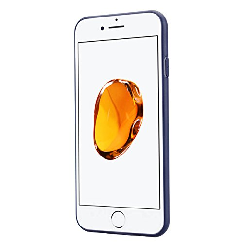 SMARTLEGEND Solido Custodia in Silicone per iPhone 7 Plus(5.5), Morbido TPU Gomma Cover Bumper Candy Case, Soft Flessibile Protettiva Durevole Antiurto Caso Copertura per Regali di Natale - Verde Blu Scuro