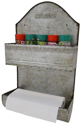 étagère en zinc épice et rouleau sopalin alu