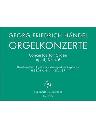 SÃ?DDEUTSCHER MUSIKVERLAG HAENDEL G.F. - ORGELKONZERTE FUR ORGEL ALLEIN MIT PEDAL. HEFT 2 OP. 4 - ORGEL Klassische Noten Orgel