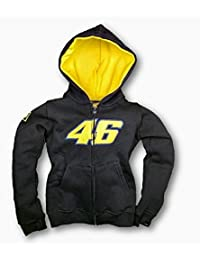 MotoGP Valentino Rossi 46 niño con capucha sudor camiseta azul marino Azul azul marino Talla:XS