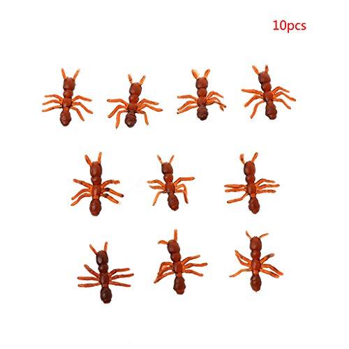 Manyo Halloween Zubehör Aprilscherz Trick Simulation Realistische Ameisen Modell Spielzeug