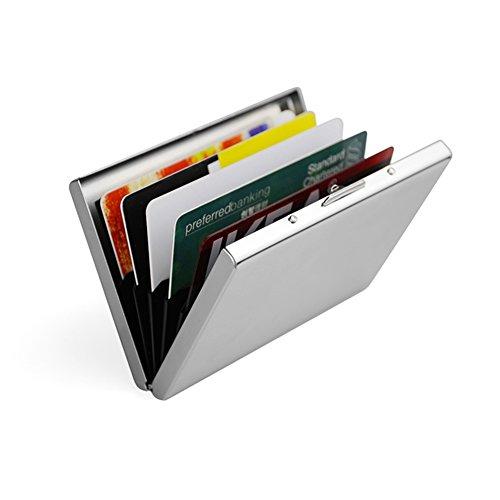 Artmi Kreditkarte Halter RFID-Blockierung dünne Aluminium Metall Fall Box Schutz hohe Qualität glatt Edelstahl Brieftasche beste Schutz Slim Business bis zu 5 Karte Fall Unisex