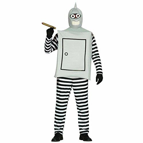 Imagen de disfraz de robot ropa bender l 52/54 traje hombre de hojalata atuendo robótica para varón vestido carnaval original vestimenta ciencia ficción