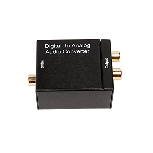 Audio Convertitore Digitale (Toslink Optical ottica e coassiale) ad analogico (RCA) – Digital to Analog Audio Converter