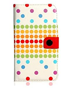 Generic Polka Dot Faux Leather Case For Samsung Note 2/ N7100 White