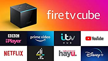 Fire TV Cube   Hands free with Alexa, 4K Ultra HD streaming media player