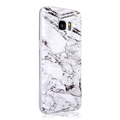 JAWSEU Coque Etui pour Samsung Galaxy S7 Edge,Samsung Galaxy S7 Edge Coque en Silicone Transparent,Samsung Galaxy S7 Edge Silicone Coque Cristal Clair Etui Housse,Samsung Galaxy S7 Edge Soft Case Gel  Blanc#