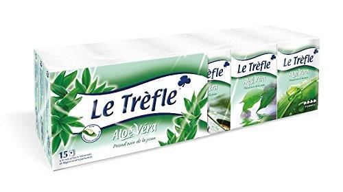 Mouchoirs Le Trèfle mini-étuis AV x 15 (9 mouchoirs) - Lot de 5