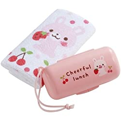 Set kawaii con toalla y caja de conejito con fresas de Japón