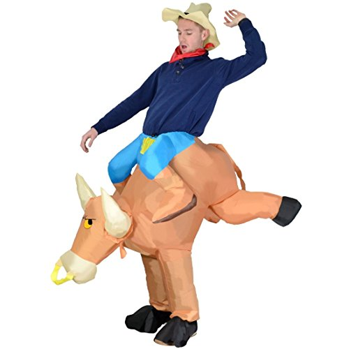 Aufblasbare Stier Oktoberfest Halloween Kostüme Blow Up Party Cosplay Kostüm Fasching Karneval ()