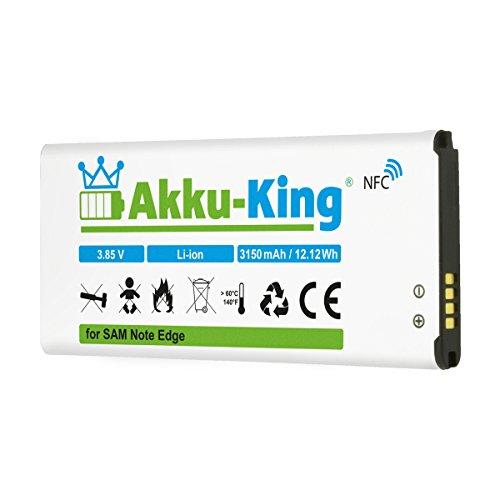 Akku-King Akku für Samsung Galaxy Note Edge, Edge 4G, F-N915F, SM-N9150 - ersetzt EB-BN915BBC, EB-BN915BBE - Li-Ion 3150mAh - mit NFC