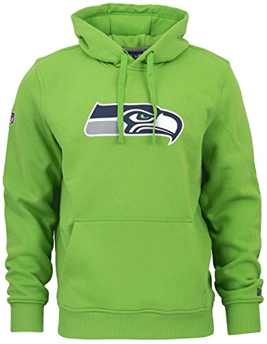 New Era - NFL Seattle Seahawks Team Logo Hoodie - Action Green Grün Größe L -