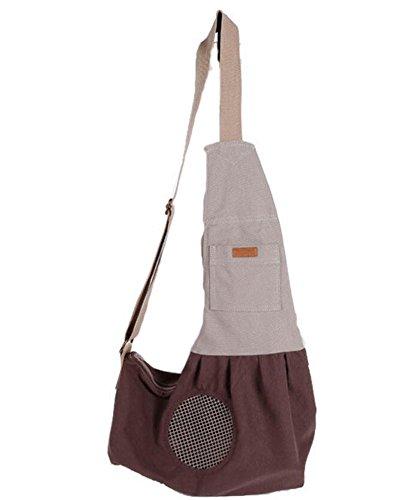 Ylen piccolo cane gatto viaggi vettore trasportino tela borsa a tracolla sling pouch per animale domestico