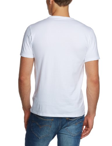 SELECTED HOMME Herren T-Shirt 16034242 Pima ss o-neck Weiß (White)