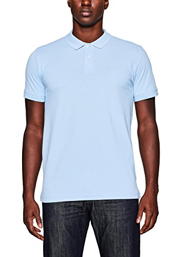 ESPRIT Herren Poloshirt Blau (Light Blue 440)