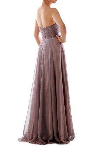 MACloth Women Strapless Crystal Chiffon Long Prom Dress Evening Formal Ball  Gown Königsblau