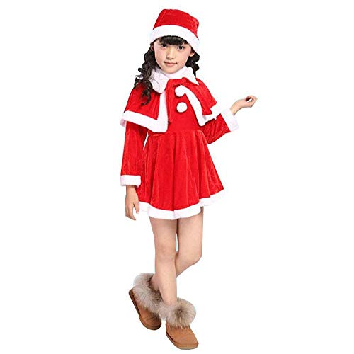 Santa Anzug Kind Kostüm - SPFAZJ Santa Anzug Kostüm Kinder weihnachtskostüm Santa Kleidung Gold Velvet Weihnachten Kostüme Jungen und Mädchen Leistung Co Stumes