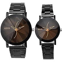 Modiwen 2pezzi orologio ora minuto mano Hollow creative Line Time Mark movimento al quarzo Orologio da polso