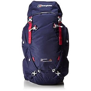 berghaus trailhead 60 women's rucksack, 60 l - carbon/jet black/tile blue