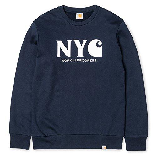 Carhartt Herren New York City Sweatshirt, Blau Blau